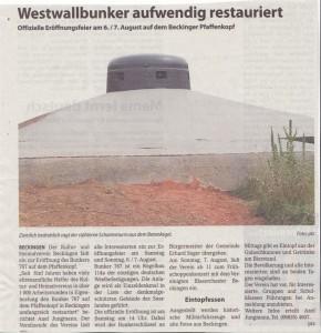 Bunker Pfaffenkopf Beckingen II