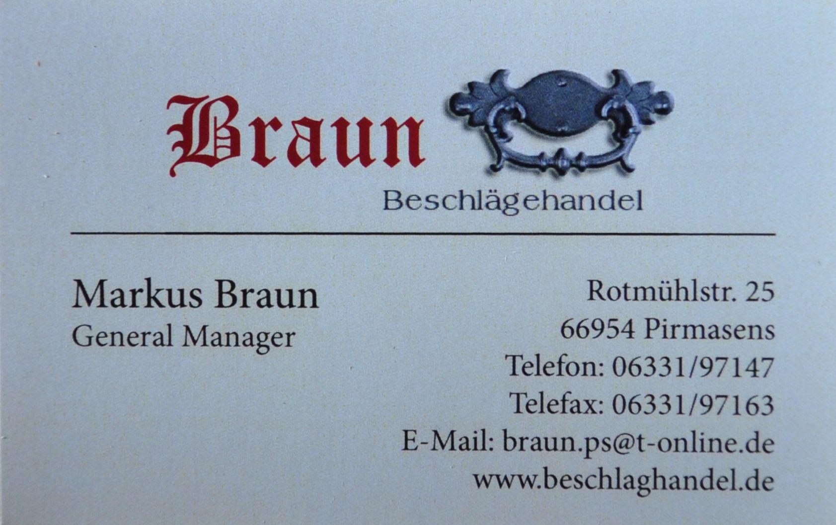 Banner Braun Beschläge